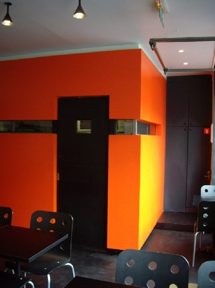 gnial cuisine noir et orange systme with cuisine orange et gris. Black Bedroom Furniture Sets. Home Design Ideas